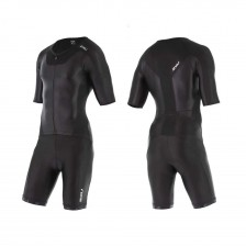 2XU X-vent Full zip sleeved trisuit blk/blk