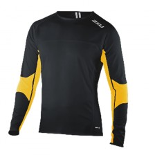 2XU Comp L/S Run Top blk/flo