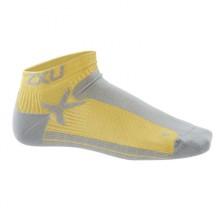 2XU Mens Performance Low Rise Socks Yellow/ slt