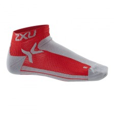 2XU Mens Performance Low Rise Socks Red/Black
