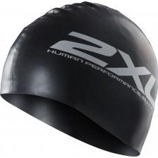 2XU Silicone Swim Cap Black/Black