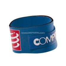 Compressport tijdchip band blauw