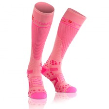 Compressport compressie kousen V.2 Roze