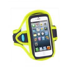 Tune Belt Sport armband reflecterend geel